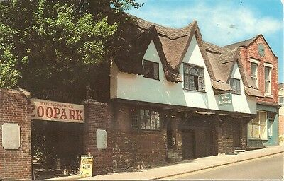 The Old House and Zoo Park Entrance, Wellingborough. Rp 1971