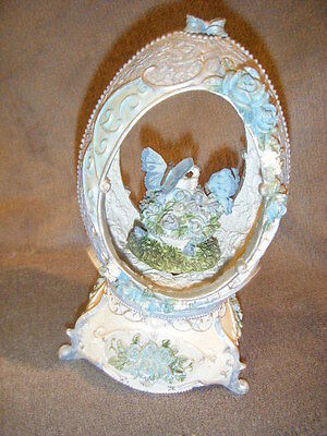 "Musical Animated Egg Shape & Butterflies   Music Box  ""some Enchanted Evening"""