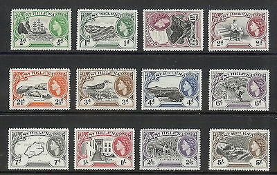 St Helena 1953 Short Set to 5s. SG 153 - 164. MH