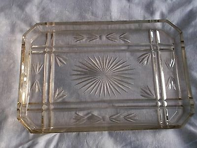 Beautiful Vintage Cut Glass Dressing Table Tray