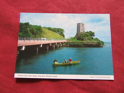 VINTAGE IRELAND: WEXFORD Ferrycarrig Norman castle colour HINDE FISHING