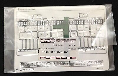 Porsche 928 Fuse Box & Relay Diagram Chart