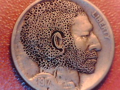 1917 D Vintage Hobo Nickel - Very Rare And Unique Carving - Buy It Now