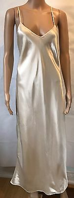 Vintage Michael Kors Saks Fifth Avenue Silky Ivory Nightgown Lingerie Size Large