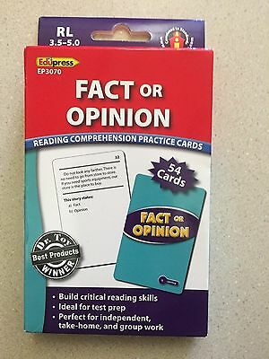 Edupress Fact or Opinion Reading Comprehension Practice Cards (RL 3.5 -5.0) New