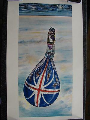 "B010 Vintage Athena Reproductions Poster 1045 ""Balloon Race"" by D'arcy 86cm x 54"