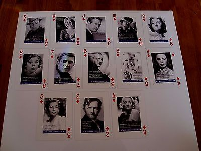 Highly Collectable Deck Piatnik Playing Cards Movie Stars And Famous Quotes