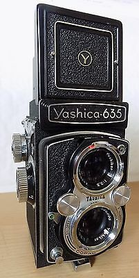 Beautiful Yashica-635 Camera in Black Hard Leather Case