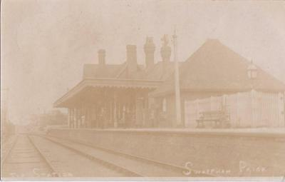 Rp Swaffham Prior Railway Station  Real Photo Newmarket Cambs Posted 1907