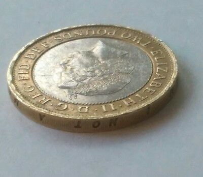 RARE Abolition Of The Slave Trade 1807 2007 Minting Error £2 Two Pound Coin