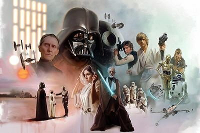 Home Decor Oil Painting HD Print on Canvas Art Wall Decor Star Wars 16 H412