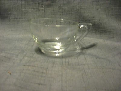 "Set of 8 - Vintage Clear Glass Cups   2 1/4"" Tall, Snowflake by Indiana Glass"