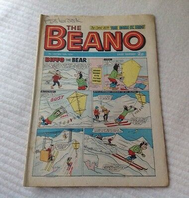 VINTAGE THE BEANO COMIC 16th December 1972 Issue no. 1587