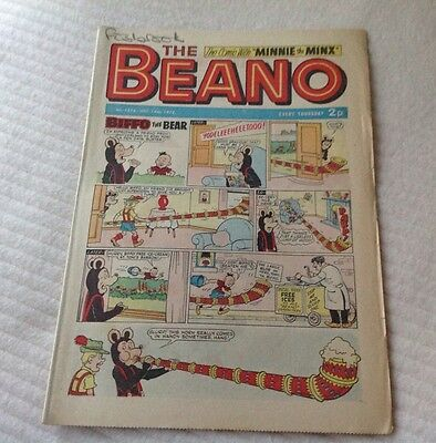 VINTAGE THE BEANO COMIC 14th October 1972 Issue no. 1578