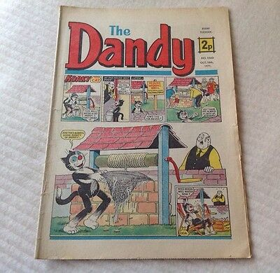 VINTAGE THE DANDY COMIC 16th October 1971 Issue no. 1560