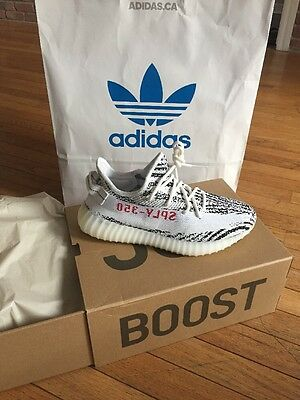 Authentic Adidas Yeezy Boost 350 V2 Zebra 2017 Size 8