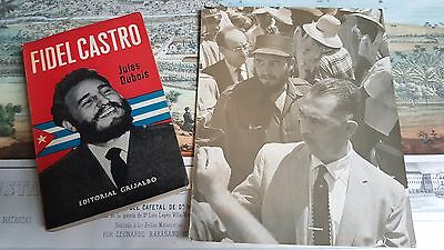 2x 1959 Book & Photo by Korda CUBAN REVOLUTION DEDICATED SIGNED By FIDEL CASTRO