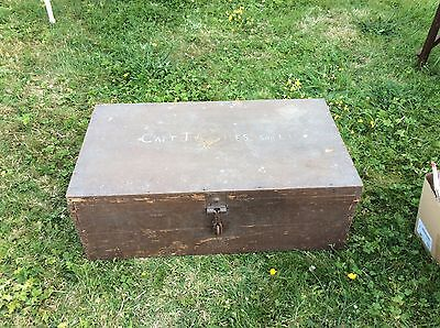Officers military chest WW1 - antique Chest - Trunk - Wooden - pine