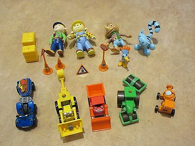 Bob The Builder Diecast Vehicles And Figures Bundle Collection Vgc