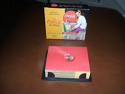 New in Box 2002 Coca-Cola Daily Desk Calendar