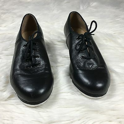 Bloch Techno Tap Size 8 1/2 Black Smooth Tie Up Oxford Tap Shoes #N7