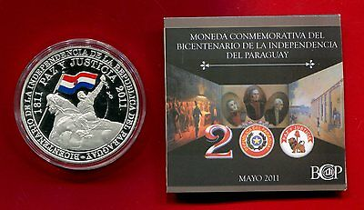 Paraguay 100 Guaranies 2011 Copper Unc Coin Commemorative 200Th Anni Independenc