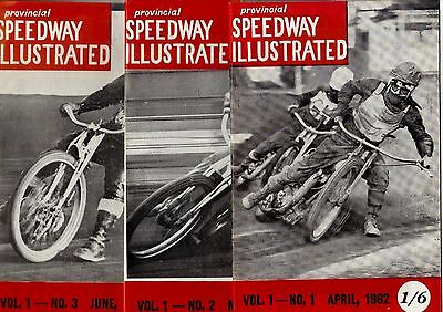 Provincial Speedway Illustrated 1962 Volume 1 Numbers 1 2 & 3 Fine Condition