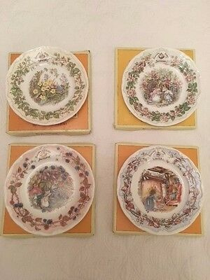 Royal Doulton Brambly Hedge Spring, Summer, Autumn & Winter 16Cm Tea Plates