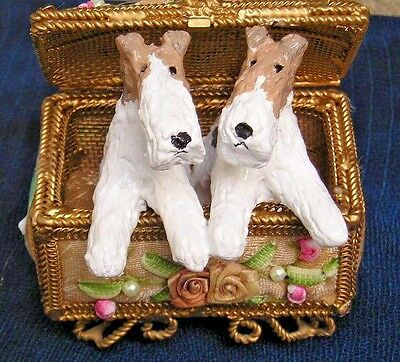 Wire Fox Terrier pair in a TRUNK!