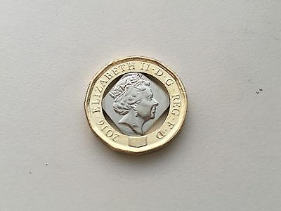 Error New 2016 £1 pound coin 12 Sided