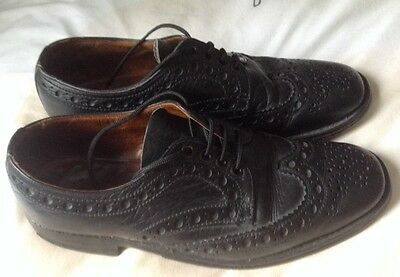 PAIR OF VINTAGE LEATHER BROGUES BY LOAKE Mens Size 8