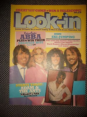 Look-in Magazine Junior TVTimes No 13 21/3/81 Abba Adam & The Ants