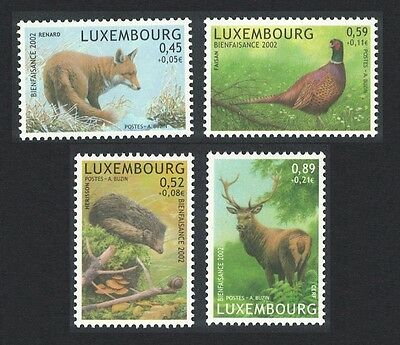Luxembourg Pheasant Bird Fox hedgehog Deer 4v SG#1632/35