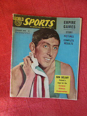 Vintage Worlds Sports Int. Sports Magazine. August 1958 - Ron Delany