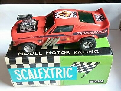 Ford Mustang Dragster Scalextric Exin Rojo Ref. 4049