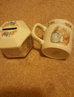 Petter Rabbit Money box and Cup