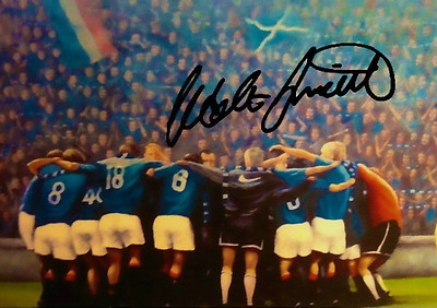 Glasgow Rangers 9 in a row Walter Smith   Signed Photo   Pre-Print Size A4
