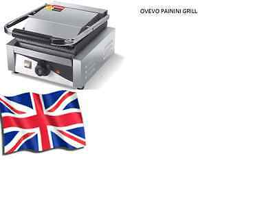 Ovevo Panini Press ,Toaster, Electric Sandwich Maker, Commercial Pannini Grill /