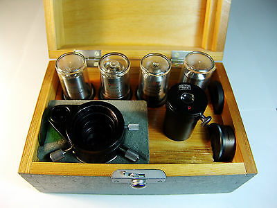 VARIABLE Phase Contrast (Phv) Zeiss Jena RARE set for microscopes, excellent !!!