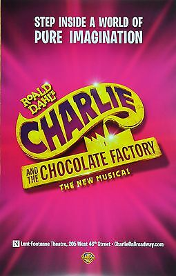 charlie and the chocolate factory Broadway souvnier window Card