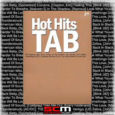 50% Off* Hot Hits Guitar Tab Tablature Song Book 20 Hits Brand New Songbook
