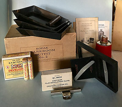 Vintage Kodak Darkroom Outfit No.2 Circa 1935 in Original Box