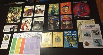 WOW Huge Lot of Extremely Rare Terry Pratchett DISCWORLD memorabilia un-signed