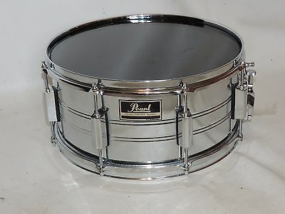 Vintage Pearl Export 6.5 x 14 Metal Snare Drum New Heads