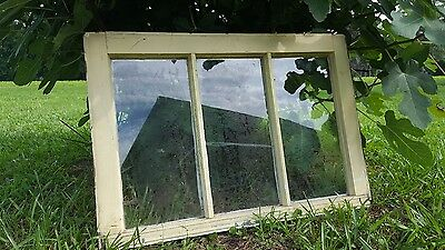 Vintage Sash Antique Wood Window Picture Frame Pinterest Wedding 3 Pane 28X19