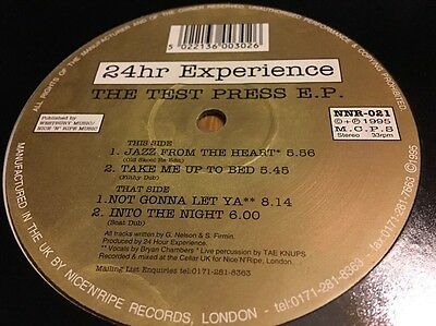 24 Hour Experience- The Test Press EP - Clear Vinyl - Old Skool Garage