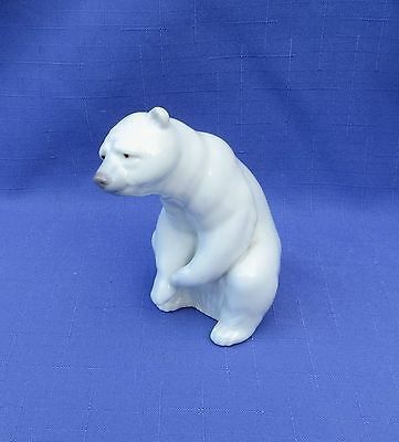 Lladro Figurine - Polar Bear Sitting #1208 - Mint Condition