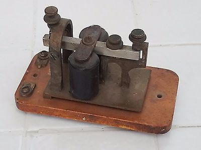 Antique Early Telegraph Key Sounder Railroad Morse Code