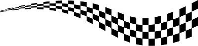 2 x chequered flag vinyl stickers graphics car side decals fun racing