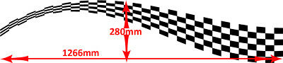 2 x chequered flag vinyl stickers graphics car side decals fun racing bg017